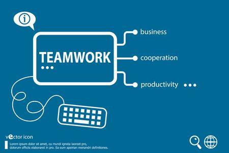 teaming: Teamwork idea word cloud concept, business concept