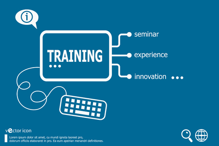 vocational training: Training Word Cloud Concept with great terms such as classroom, education, trade, vocational, knowledge.