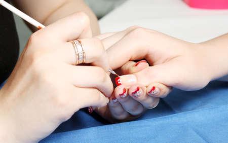 art processing: Skin care. Nail art in processing.