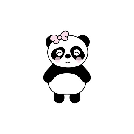 Children's illustration with panda. Best Choice for cards, invitations, printing, party packs, blog backgrounds, paper craft, party invitations, digital scrapbooking. Stock Vector - 95019518