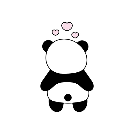Children's illustration with panda. Best Choice for cards, invitations, printing, party packs, blog backgrounds, paper craft, party invitations, digital scrapbooking. Stock Vector - 95019514