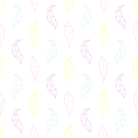 Baby seamless pattern with feathers. Best Choice for cards, invitations, printing, party packs, blog backgrounds, paper craft, party invitations, digital scrap booking.