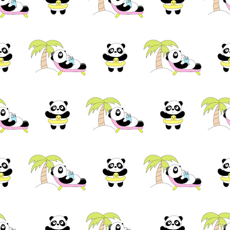 Modèle de bébé sans couture avec panda mignon. Meilleur choix pour les cartes, les invitations, l'impression, les packs de fête, les arrière-plans de blog, l'artisanat en papier, les invitations à des fêtes, le scrapbooking numérique.