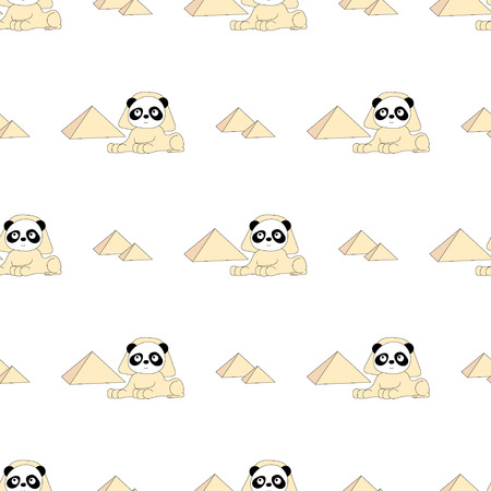 Seamless baby pattern with cute panda. Best Choice for cards, invitations, printing, party packs, blog backgrounds, paper craft, party invitations, digital scrapbooking. Illustration
