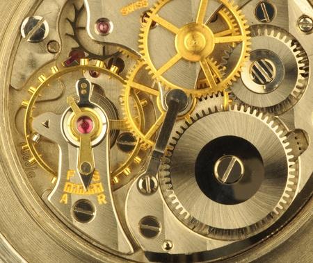 gears: Mecanismo de relojería fina precisión suiza. Foto de archivo