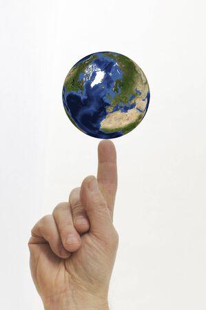 De wereld binnen handbereik Stockfoto
