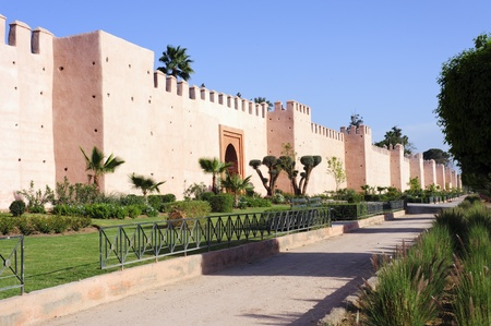 The famous wall of Marrakesh, Morocco  Stock Photo
