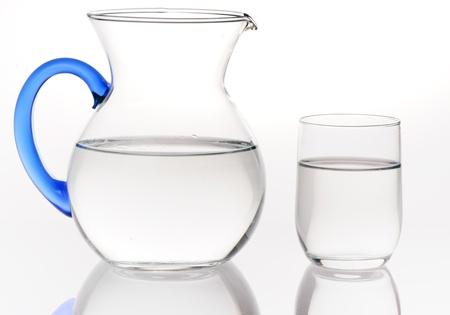Werper en een glas water