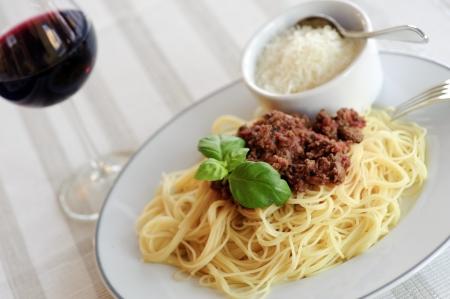 Spaghetti bolognese,  Stock Photo