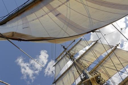 Brig in full sail Stock Photo