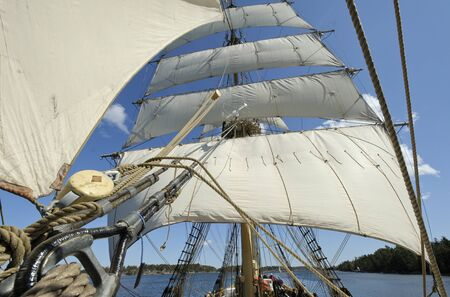Brig in full sail photo