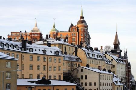 Uitzicht over de Södermalm hoogten in Stockholm