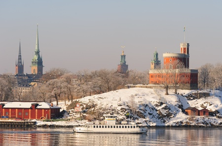 Stockholm winter uitzicht
