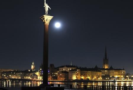 Stockholm night Stock Photo