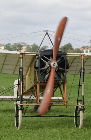 monoplane: Front of a Bleriot XI