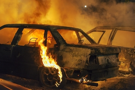 Brandende auto