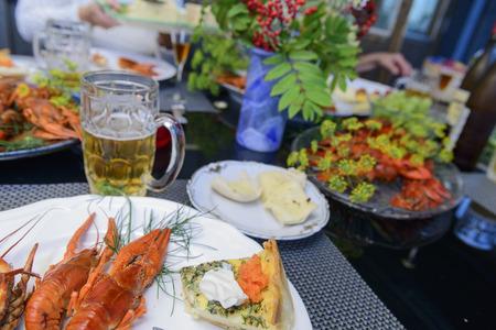 Crayfish party, Swedish way