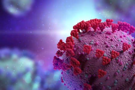Visualization Of The Covid-19 Virus (Corona) Banque d'images