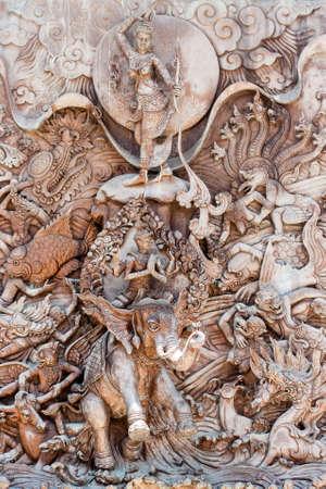 bas relief: bas relief at wat traimit Editorial