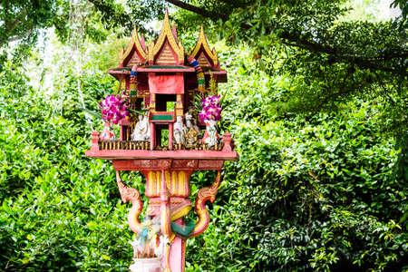 house of god: shrine of the household god or spirit house in Thailand Stock Photo