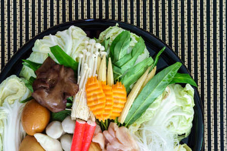 Thai style Shabu or Sukiyaki ingredient raw material
