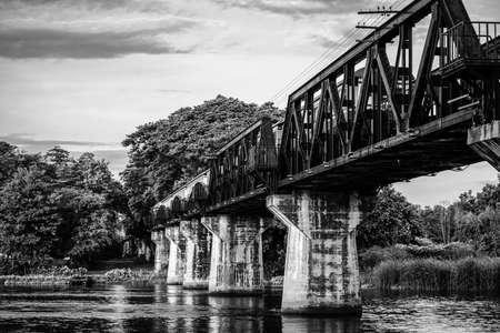 Railway metal bridge - Black and White