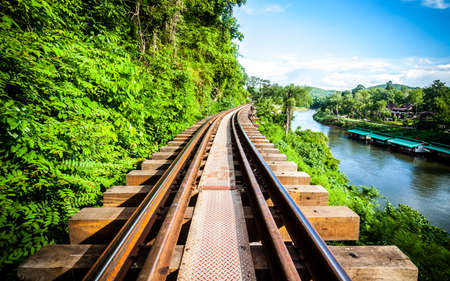 wood railroad: Railroad wood history world war II in river kwai, kanchanaburi, thailand, Filter Effect