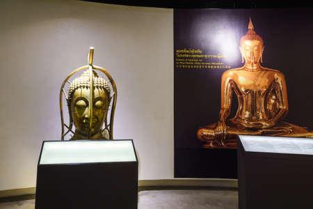 BANGKOK, THAILAND - DEC 18 : The Golden Buddha, Phra Buddha Maha Suwanna Patimakorn exhibition show the miracle of the worlds biggest golden buddha: the construction, concealment and emergence  on December 18, 2016 at Wat Traimit Temple, Bangkok, Thailan Editorial
