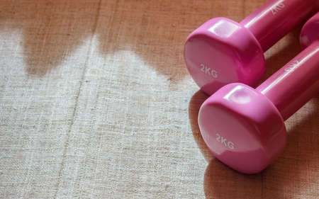 barbel: Pink Dumbbells