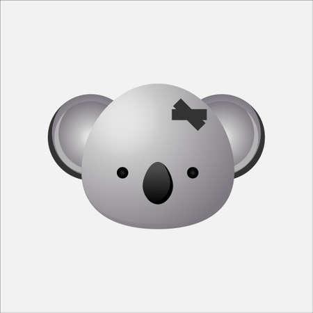 Koala Bear logo design, Koala head icon,  Logo Symbol Vector illustration