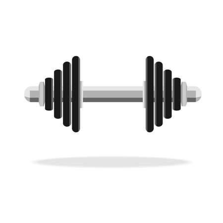 Dumbbell icon logo vector. Fitness logo symbol. Gym icon.