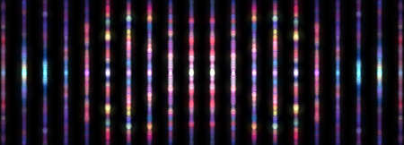 Abstract Blurred background of vertical multicolored bokeh pattern texture colorful background. 3D illustration. 3D rendering. Digital blur multiple rainbow bokeh lines for background banner wallpaper