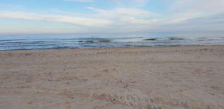 Baltic sea beach in the morning Standard-Bild