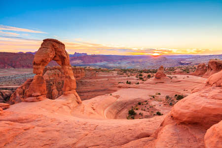Panorama of Delicate Arch in Arches National Park Utah photo