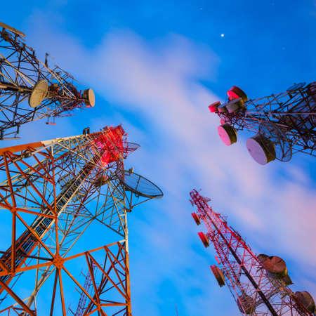 Groupe de télécommunications domine la nuit