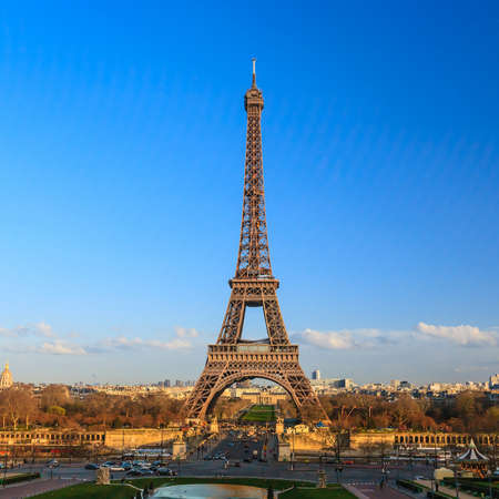 The Eiffel tower in Paris France photo