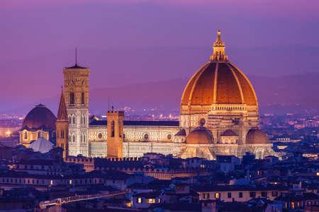 Santa Maria del Fiore, the Florence Duomo at sunset