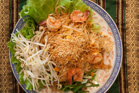 Pad-thai, Thai style noodles photo