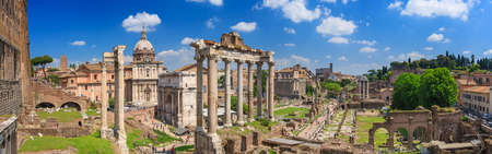 the romans: Roman Forum in Rome, Italy