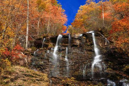 grist: Amicalola Falls in autumn Georgia Stock Photo