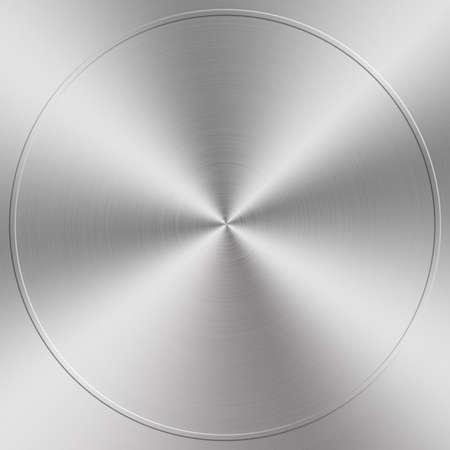 nickel panel: circular brushed aluminum texture Stock Photo