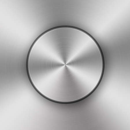 aluminum texture: circular brushed aluminum texture Stock Photo