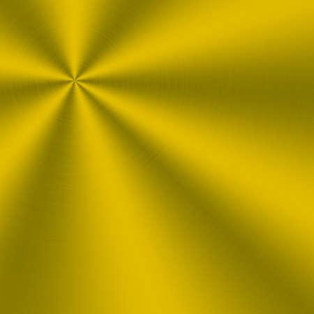 nickel panel: circular brushed aluminum texture yellow Stock Photo