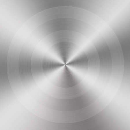 brushed aluminum: circular brushed aluminum texture Stock Photo