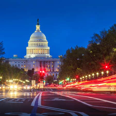 La costruzione degli Stati Uniti Campidoglio di Washington DC