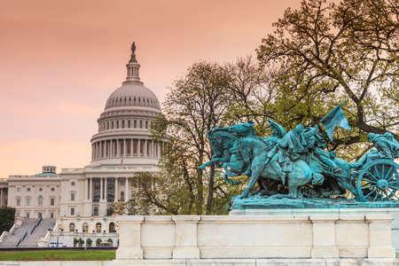 congressional: The United States Capitol building in Washington DC, sunrise