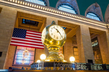 Grand Central Terminal classic Clock Editorial