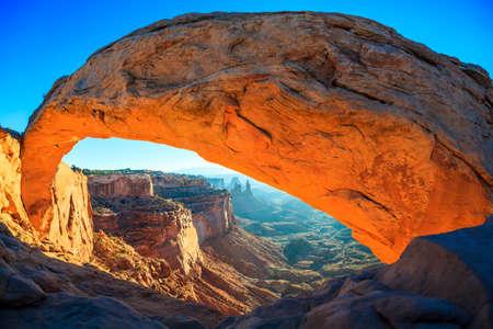Mesa Arch Cnyonlands National Park sunrise.