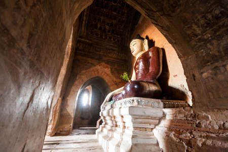 A very old buddha sculpture in Bagan Myanmar.