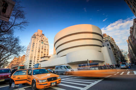 mile: NEW YORK - FEBRUARY 4: The Solomon R. Guggenheim Museum of modern and contemporary art. Designed by Frank Lloyd Wright museum opened on October 21,1959. On February 4, 2013 in New York City, USA Editorial